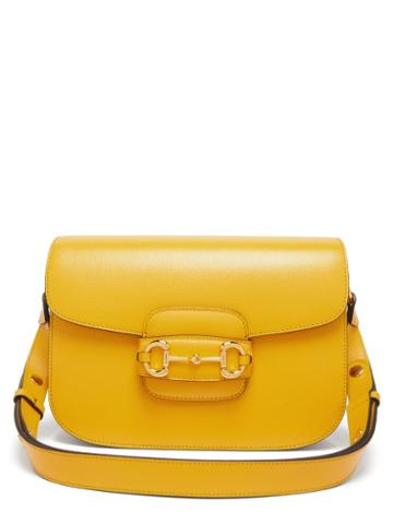 Matchesfashion.com Gucci - 1955 Horsebit Gg Leather Shoulder Bag - Womens - Yellow