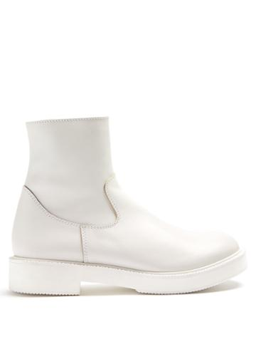 Junya Watanabe X Comme Des Garcons Smooth-leather Ankle Boots