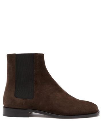 Matchesfashion.com Maison Margiela - Tabi Split-toe Suede Chelsea Boots - Mens - Brown
