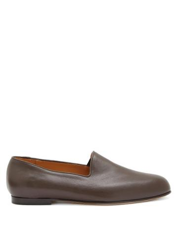 Matchesfashion.com Jacques Soloviere - Leather Loafers - Mens - Brown