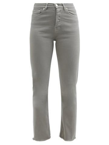 Alexandre Vauthier - Raw-hem High-waist Cropped Skinny Jeans - Womens - Grey