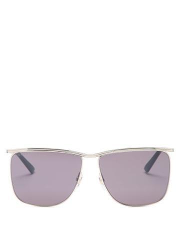 Matchesfashion.com Gucci - D-frame Metal Sunglasses - Mens - Gold