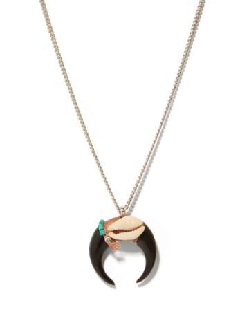 Isabel Marant - Crescent-moon Necklace - Mens - Silver