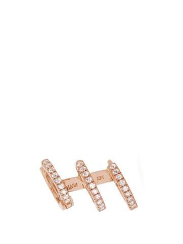Maria Tash Eternity Diamond, Rose-gold Single Cuff