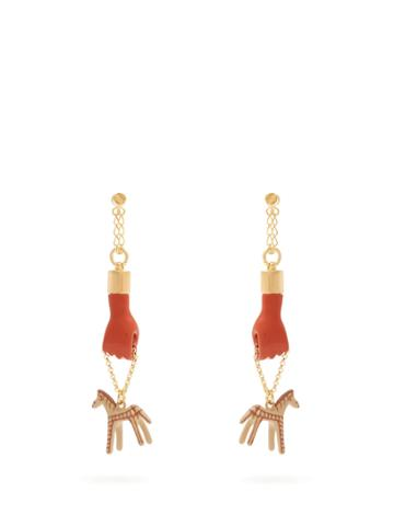 Chloé Femininities Hand And Horse Drop Earrings