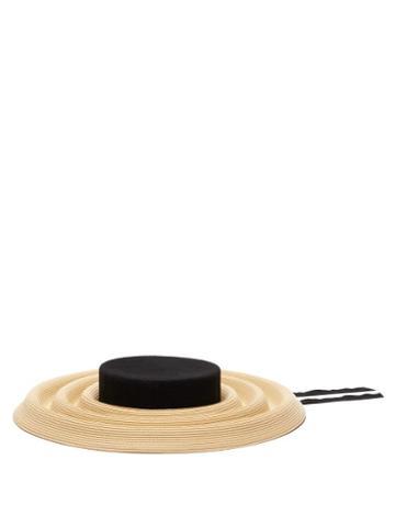 Matchesfashion.com Eliurpi - Ridged Straw Hat - Womens - Beige