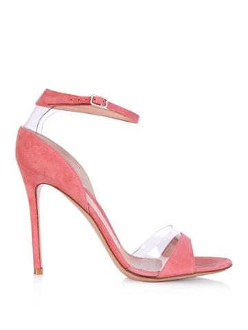 Gianvito Rossi Suede And Pvc Sandals