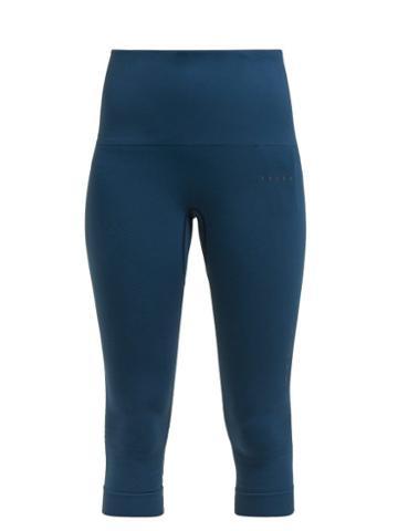 Matchesfashion.com Falke - Shape Performance Cropped Leggings - Womens - Blue