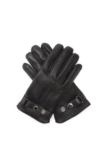 Matchesfashion.com Alexander Mcqueen - Cashmere-lined Leather Gloves - Mens - Black