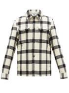 Matchesfashion.com Ami - Checked Brushed-wool Overshirt - Mens - Cream Multi
