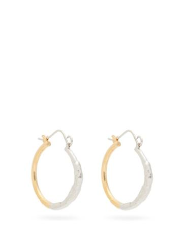 Matchesfashion.com Marni - Hammered Hoop Earrings - Womens - Silver Gold