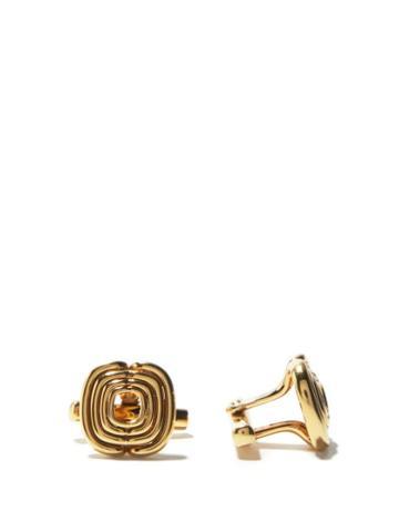 Matchesfashion.com Fernando Jorge - Lines 18kt Gold Cufflinks - Mens - Yellow Gold