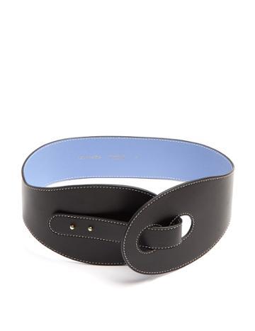 Roksanda Contrast-stitch Leather Waist Belt