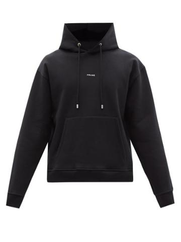 Matchesfashion.com Frame - Logo-print Oversized Jersey Hooded Sweatshirt - Mens - Black