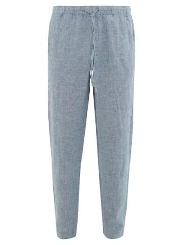 Matchesfashion.com Onia - Carter Linen Trousers - Mens - Blue