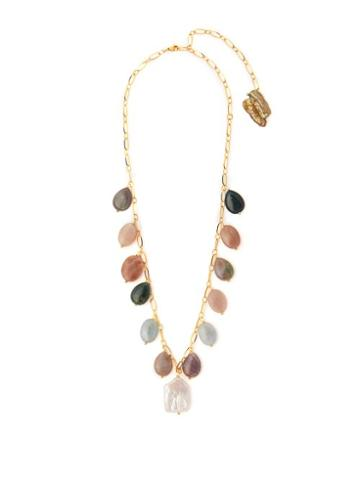 Matchesfashion.com Timeless Pearly - Mala Stone & Pearl Necklace - Womens - Multi