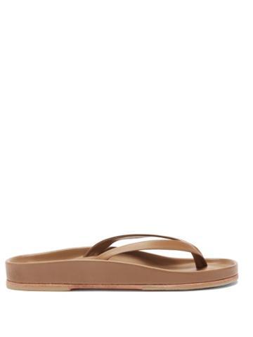 Matchesfashion.com Lauren Manoogian - Zori Leather Flip-flop Sandals - Womens - Beige