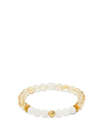 Matchesfashion.com Musa By Bobbie - Citrine, Agate & 18kt Gold Beaded Bracelet - Womens - Yellow