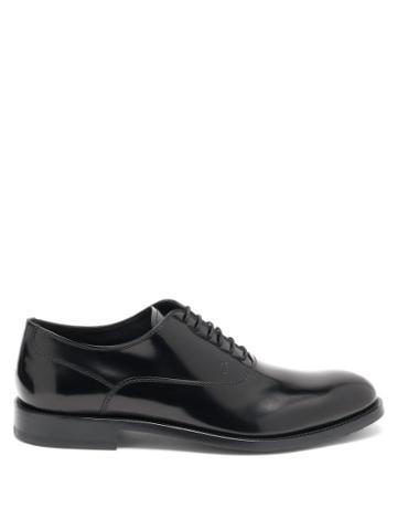 Matchesfashion.com Tod's - Janeiro Leather Oxford Shoes - Mens - Black