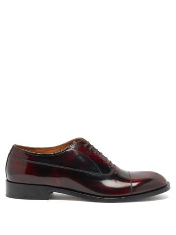 Matchesfashion.com Maison Margiela - Toe-cap Leather Oxford Shoes - Mens - Burgundy