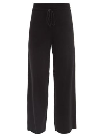 Live The Process - Baja Cotton-blend Jersey Wide-leg Track Pants - Womens - Black