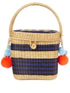 Sophie Anderson Cinto Striped Wicker Basket Bag