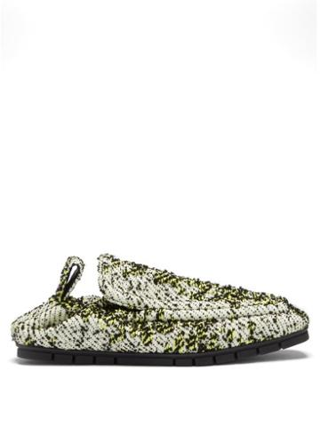 Matchesfashion.com Bottega Veneta - Plank Boucl Loafers - Mens - White Multi