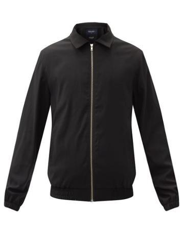Matchesfashion.com Noon Goons - Journal Point-collar Twill Jacket - Mens - Black