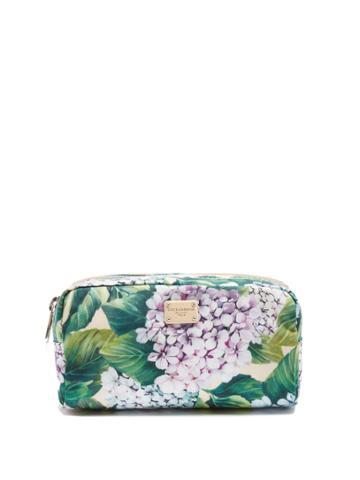 Dolce & Gabbana Hydrangea-print Small Twill Make-up Bag