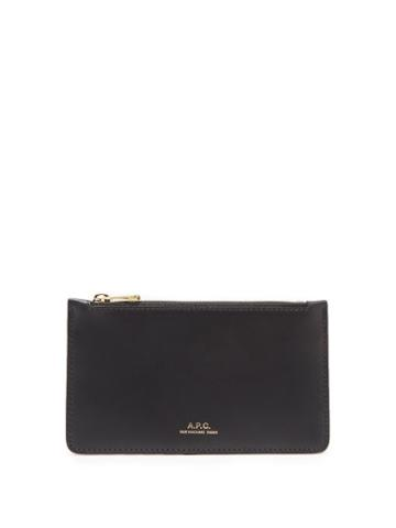 Matchesfashion.com A.p.c. - Willow Leather Cardholder - Womens - Black