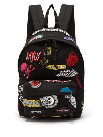 Vetements X Eastpak Embroidered Canvas Backpack