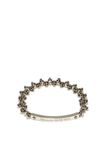 Alexander Mcqueen - Mini Skull Metal Bracelet - Mens - Black