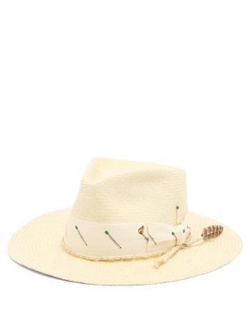 Matchesfashion.com Nick Fouquet - Pontillac Ribbon-trimmed Straw Hat - Mens - Beige