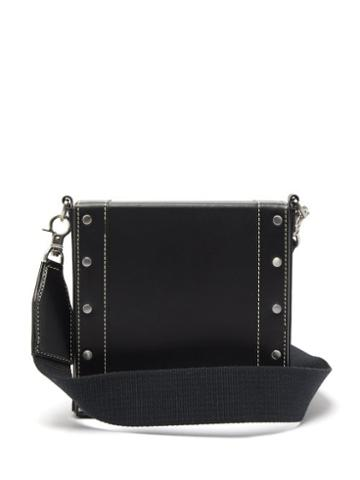 Matchesfashion.com Ami - Studded Topstitched-leather Cross-body Bag - Mens - Black