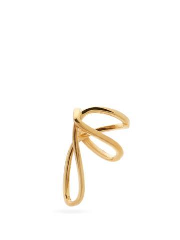 Matchesfashion.com Alan Crocetti - Space Warp Gold-plated Ear Cuff - Mens - Gold
