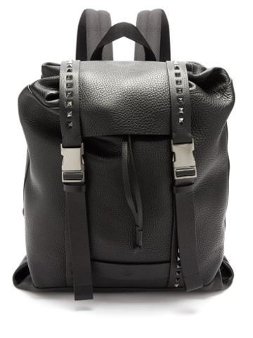 Valentino Garavani - Rockstud Grained-leather Backpack - Mens - Black