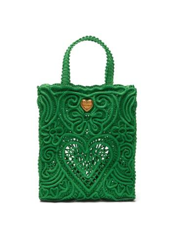 Dolce & Gabbana - Cordonetto-lace Tote Bag - Womens - Green
