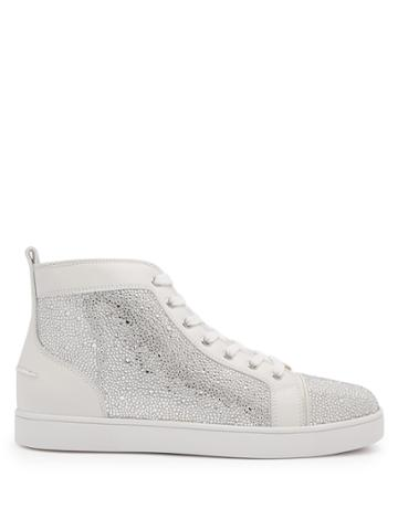 Christian Louboutin Louis Strass High-top Leather Trainers