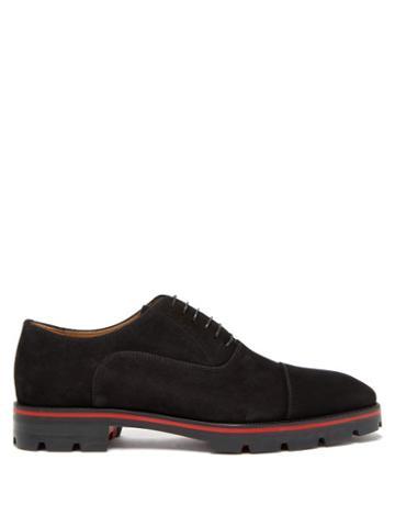 Matchesfashion.com Christian Louboutin - Hubertus Suede Oxford Shoes - Mens - Black
