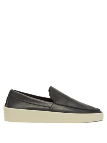 Matchesfashion.com Fear Of God - Exaggerated-sole Leather Loafers - Mens - Black