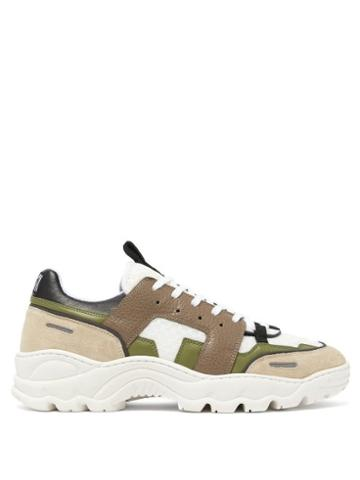 Matchesfashion.com Ami - Running Lucky 9 Low Top Trainers - Mens - Green Multi