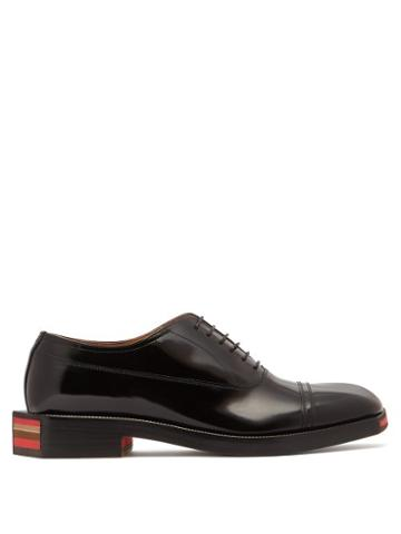 Matchesfashion.com Maison Margiela - Angular Sole Leather Oxford Shoes - Mens - Black