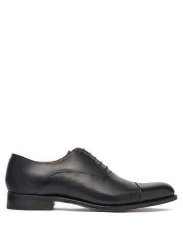 Matchesfashion.com Grenson - Bert Leather Oxford Shoes - Mens - Black