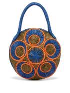 Matchesfashion.com Sophie Anderson - Saba Woven Raffia Bag - Womens - Blue Multi
