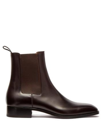 Matchesfashion.com Christian Louboutin - Samson Leather Chelsea Boots - Mens - Black