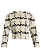 Alexander Mcqueen Boucl-tweed Cropped Jacket
