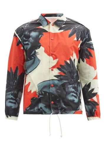 Matchesfashion.com Undercover - Face Palm-print Technical Jacket - Mens - Red