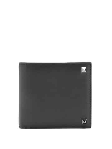 Matchesfashion.com Valentino Garavani - Rockstud Leather Bi-fold Wallet - Mens - Black