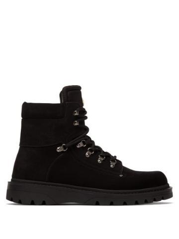 Matchesfashion.com Moncler - Egide Lace Up Suede Boots - Mens - Black