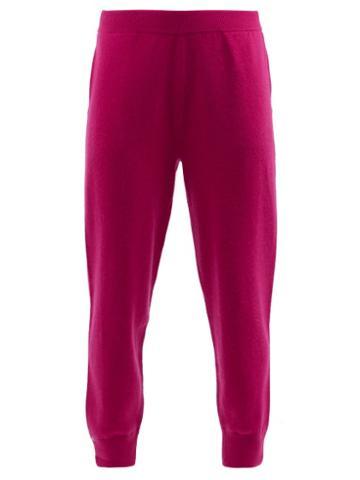 Extreme Cashmere - No.56 Yogi Stretch-cashmere Track Pants - Womens - Fuchsia